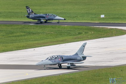 Arrival of the first of two pairs of Slovak AF L-39C Albatroses.