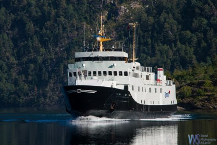 The ferry for a Geiranger fjord voyage.