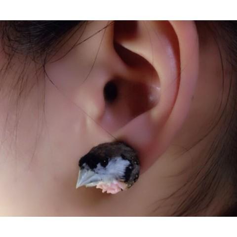 【魔界ノ風鷹】小鳥の頭イヤリング1