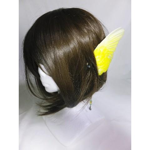 【魔界ノ風鷹】翼イヤーフック・大(黄)左耳用