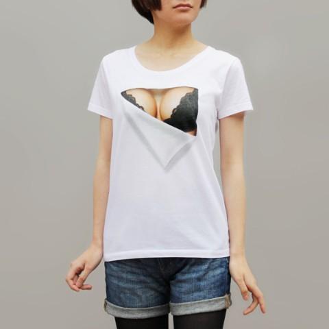 妄想マッピング -黒いブラTシャツ-(レディース半袖)