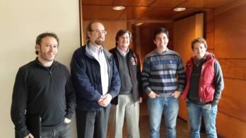 Juan Carlos Beamin and supervisors Julio Chanamé, René Mendez, Dante Minniti and Manuela Zoccali