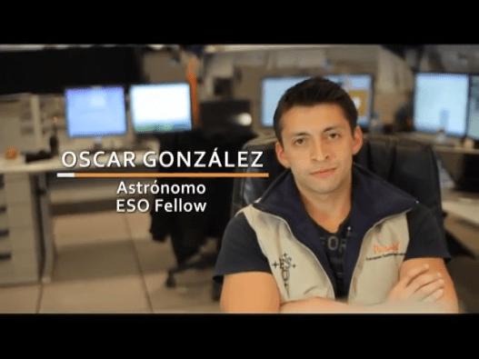 Oscar González at Paranal