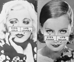 Facial Study for Actresses Mae West and Greta Garbo