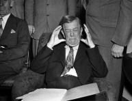 Senator Ellison Smith Holding Head