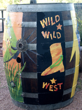 Blazin' M Ranch Painted Barrel