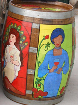 Cottonwood Economic Council Painted Barrel