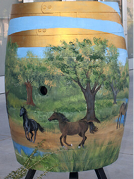 Pillsbury Wine Company Painted Barrel