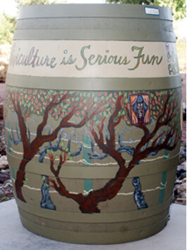 Yavapai College Painted Barrel