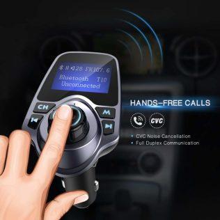 FM-Transmitter FM Transmitter Piratensender Iphone 4 5 6 7 8 X Freisprechanlage Samsung Android Huawei Bluetooth SD USB Anschluss Ladekabel Radio VW LUPO einbauen
