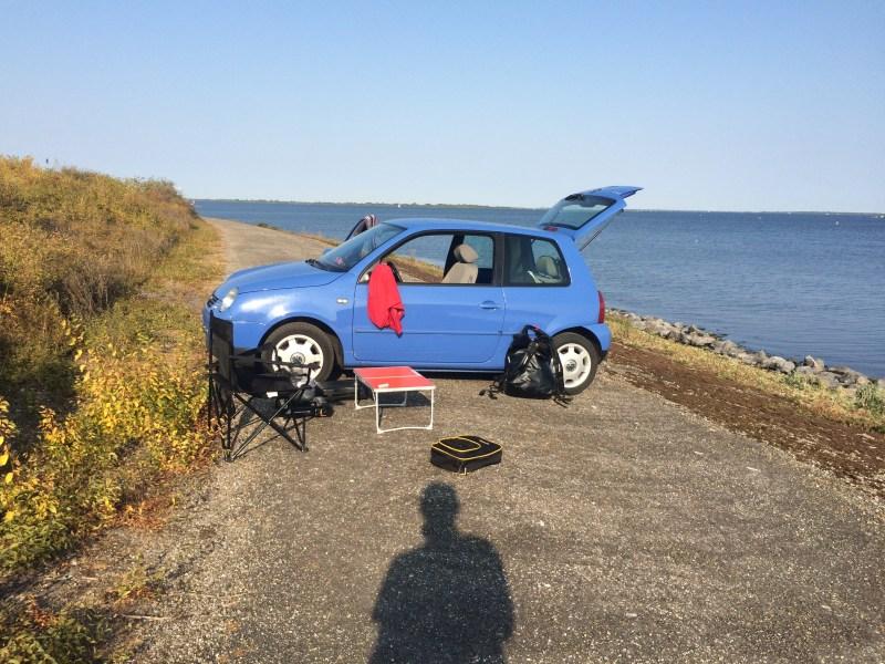 Fishing Trip Roadtrip schlafen im VW-Lupo Road Urlaub in Holland Angeln
