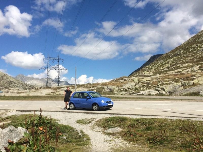 VW Lupo Brennerpass Gotthard Tunnel Brenner Alpen Reisen Urlaub ausflug Italien Reise Sankt gotthard