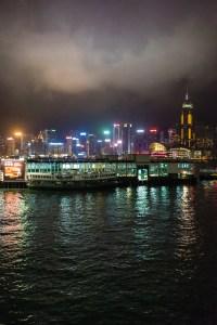 Hong Kong, city at night