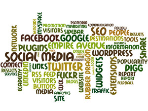 social media, word cloud