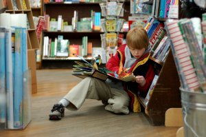 child reading, children's books