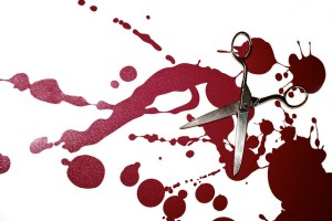 scissors, blood, editing