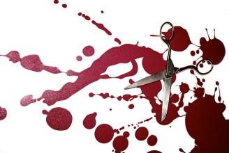 scissors, blood, editing