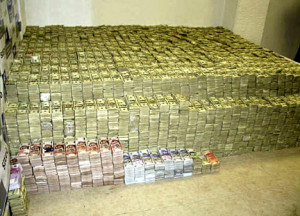 confiscated drug money