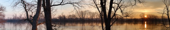 River, sunrise