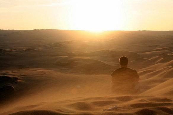 desert, man in desert