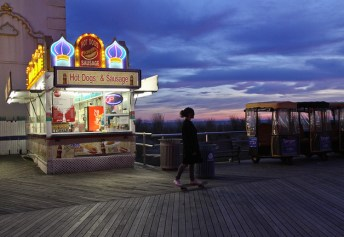 Atlantic City, Boardwalk, hot dog stand