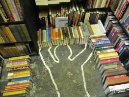 chalk outline, body