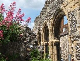 Canterbury, church wall
