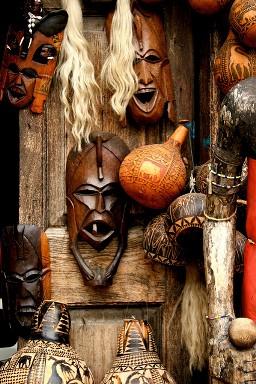 Mombasa, Africa, Masks