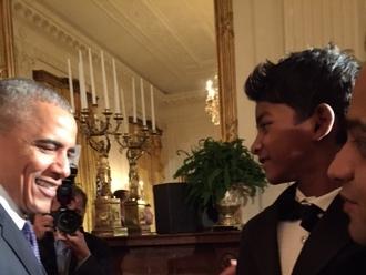 Sunny Pawar, Barack Obama