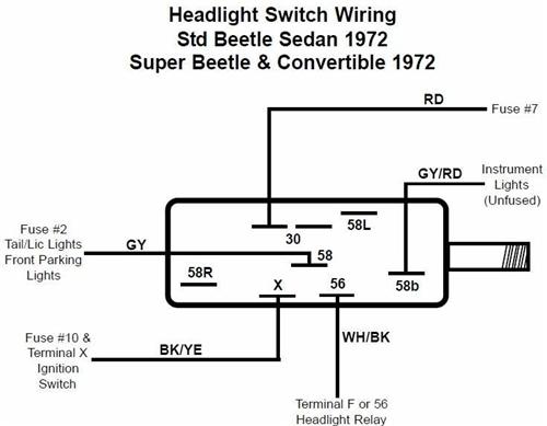 1964 vw headlight switch wiring  wiring diagram wave