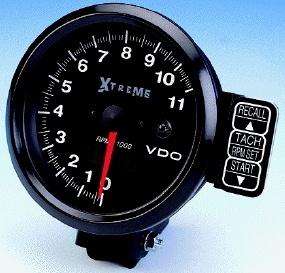 Vdo Extreme Rpm Recording Tachometer Black Face