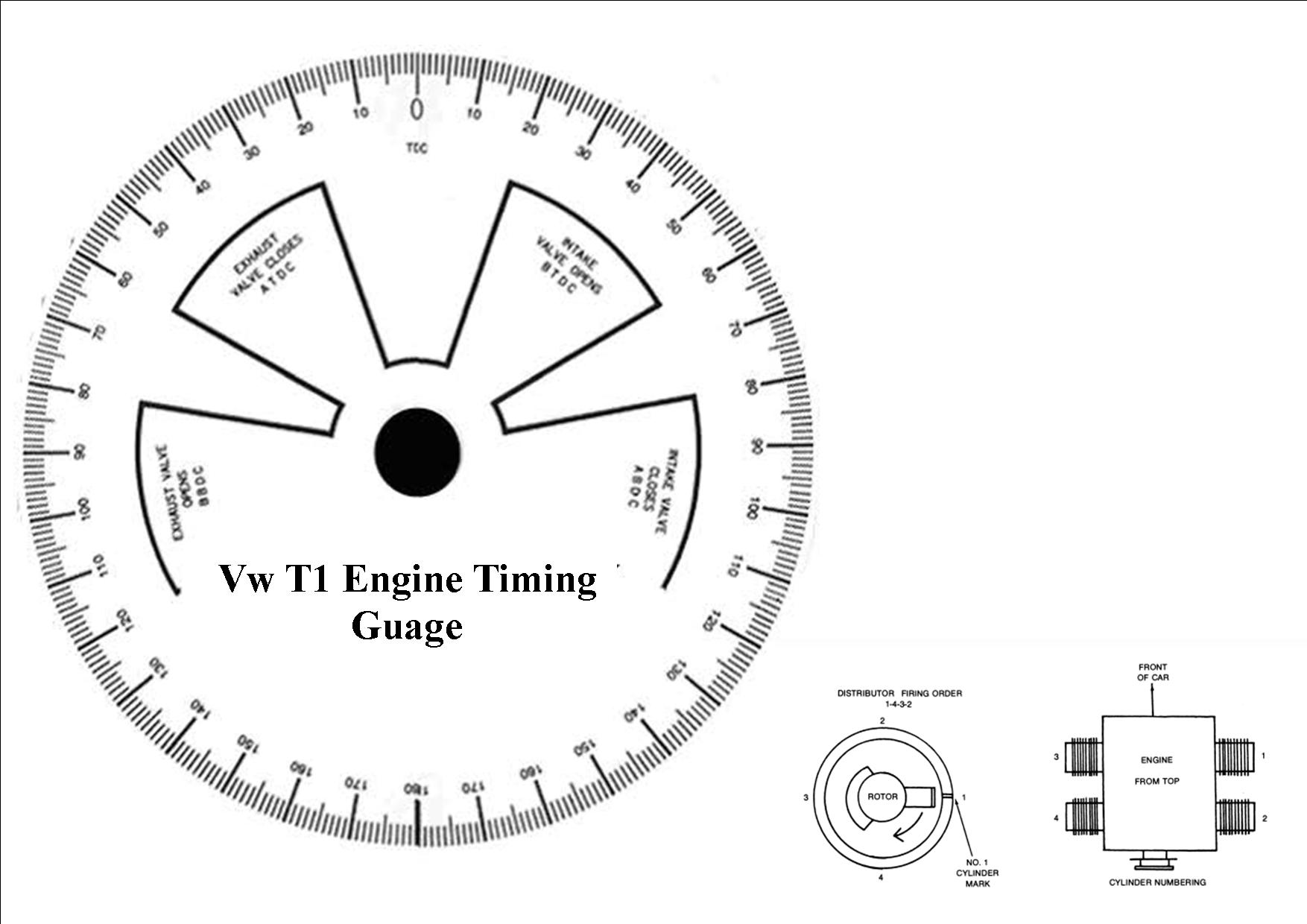 Here Is A Guage To Mark Your Bottom Pulley With Degrees To Set Your Timing