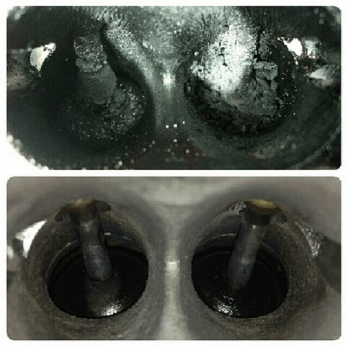 Clogged vs Cleared Intake Valves