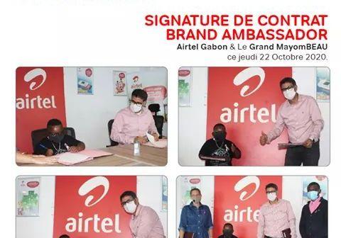 """Gabon: Grand Mayombeau, désormais """"Brand ambassador"""" du réseau des smartphones Airtel"""