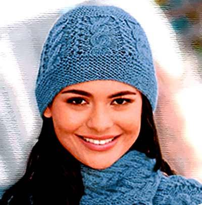женские шапки спицами вязание шапок модные и новые модели Part 10