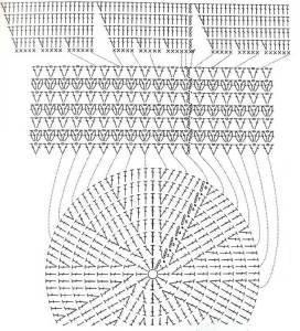 шляпка крючком схема