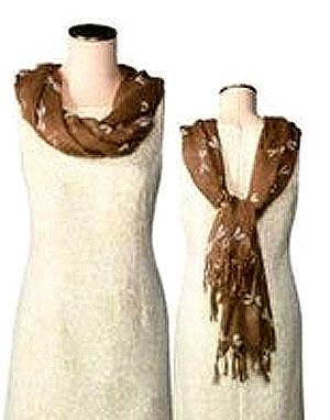 как красиво завязать шарф на шею 4