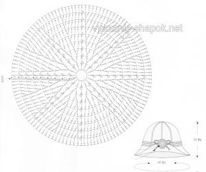 схема шляпы крючком 1