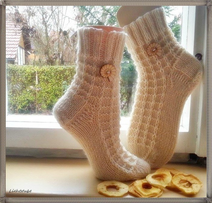 Vakre strikkede sokker