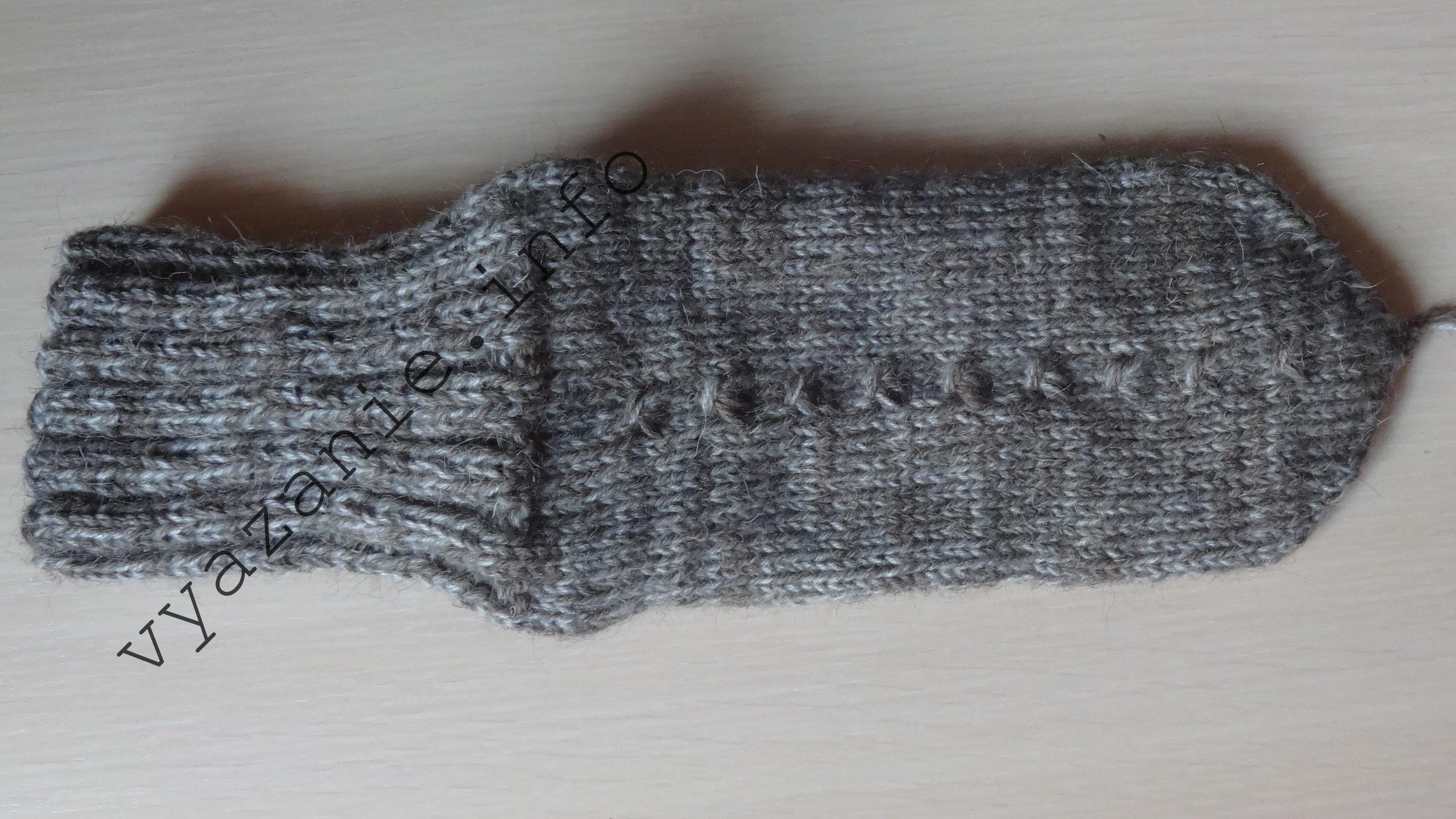 как правильно связать носки спицами