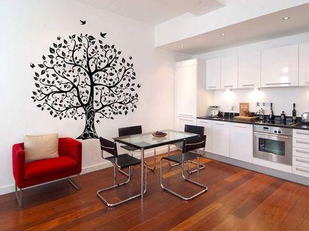 Как украсить стены на кухне: фото варианты оформления