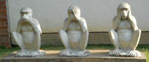インド・ガンディーの三猿