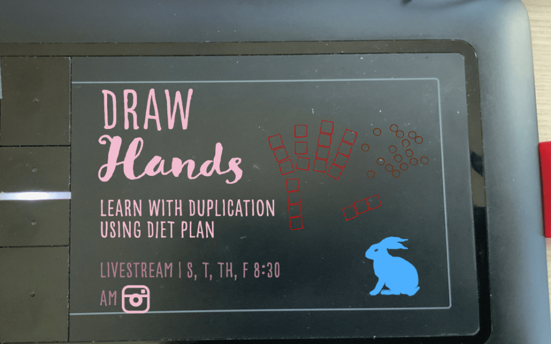 Draw Hands vye 3: Learn with Duplication and Diet