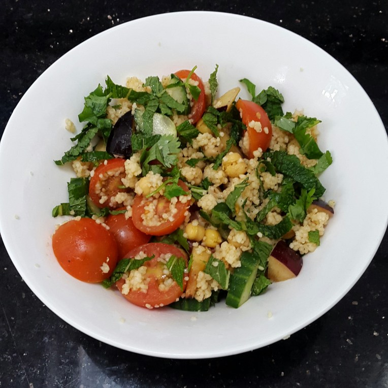 Vy's 1st version of couscous salad | © Vylyst