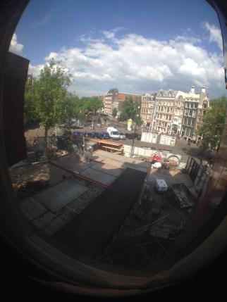 window image of the nieuwmarkt