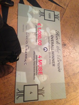 the cheque