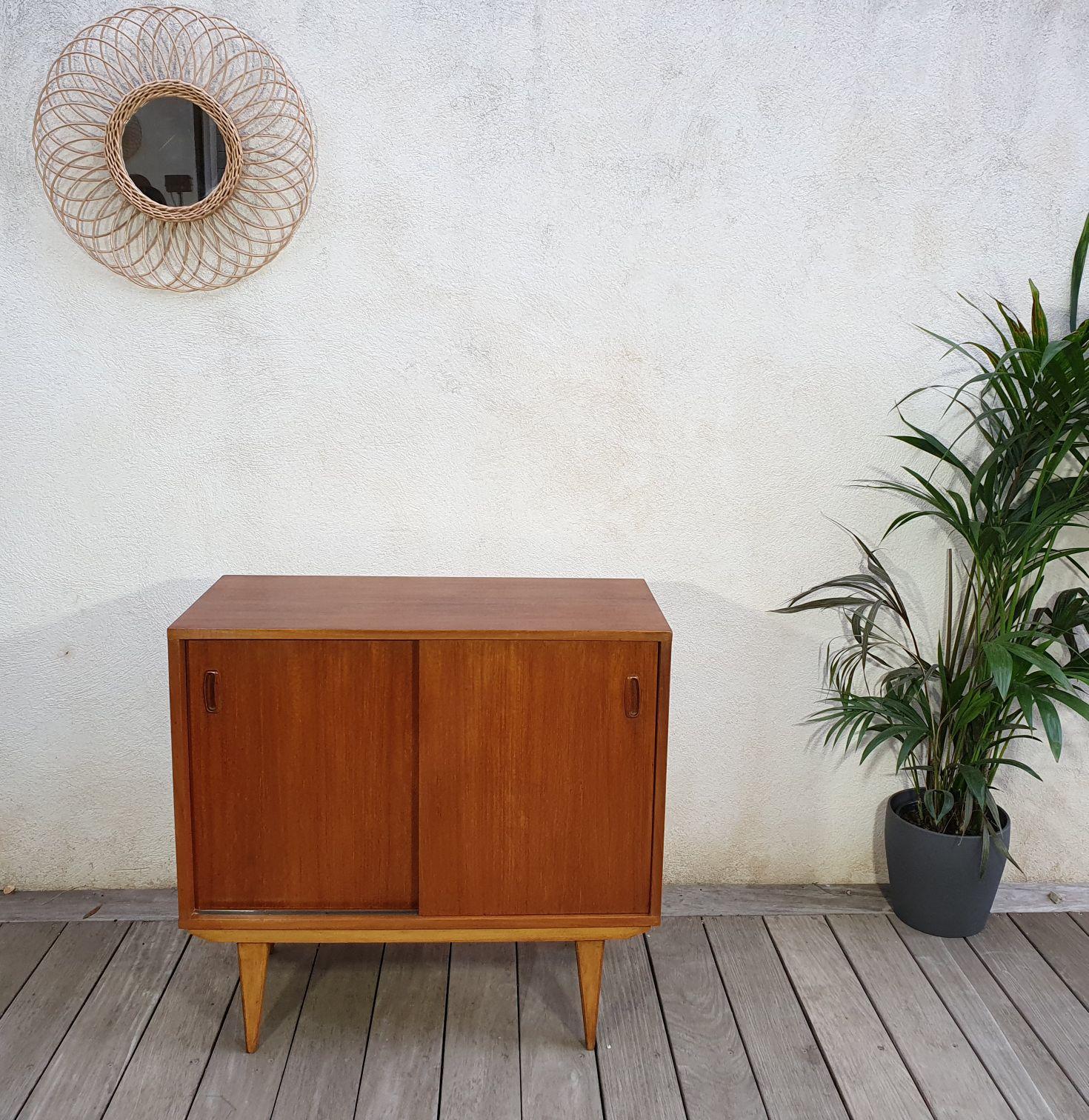 meuble de rangement scandinave teck