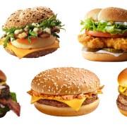 McDonalds burgers from around the world