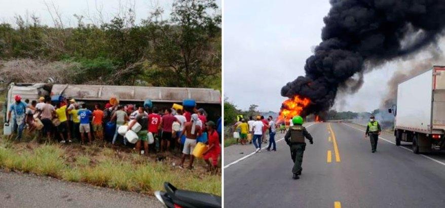 Explosión cisterna en colombia