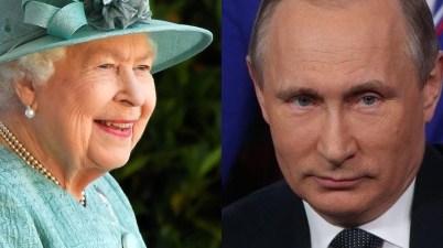Reina Isabel II y Vladimir Putin
